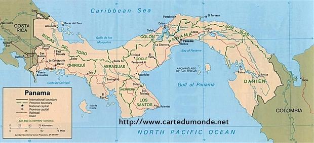 Carte Panama
