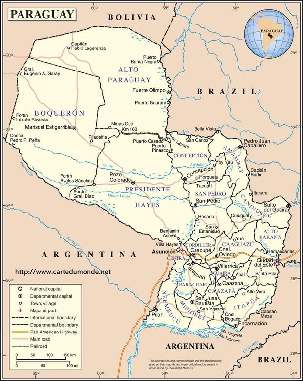 Map Paraguay