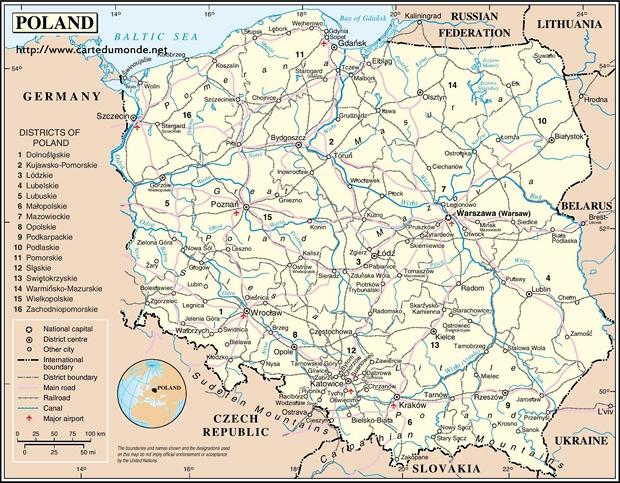 Mapa Polonia