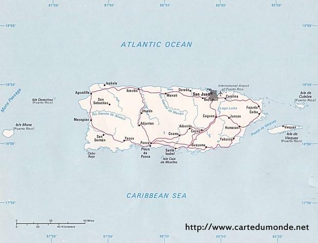 Carte Porto Rico