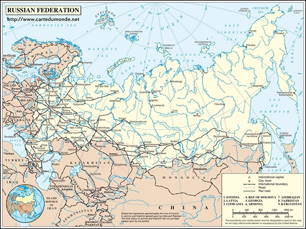 Mapa Rosja