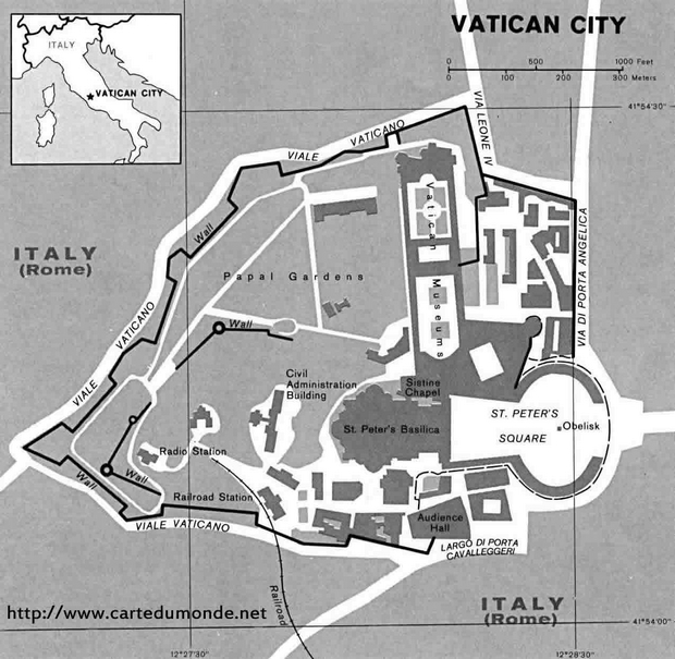 Map Holy See (Vatican City)