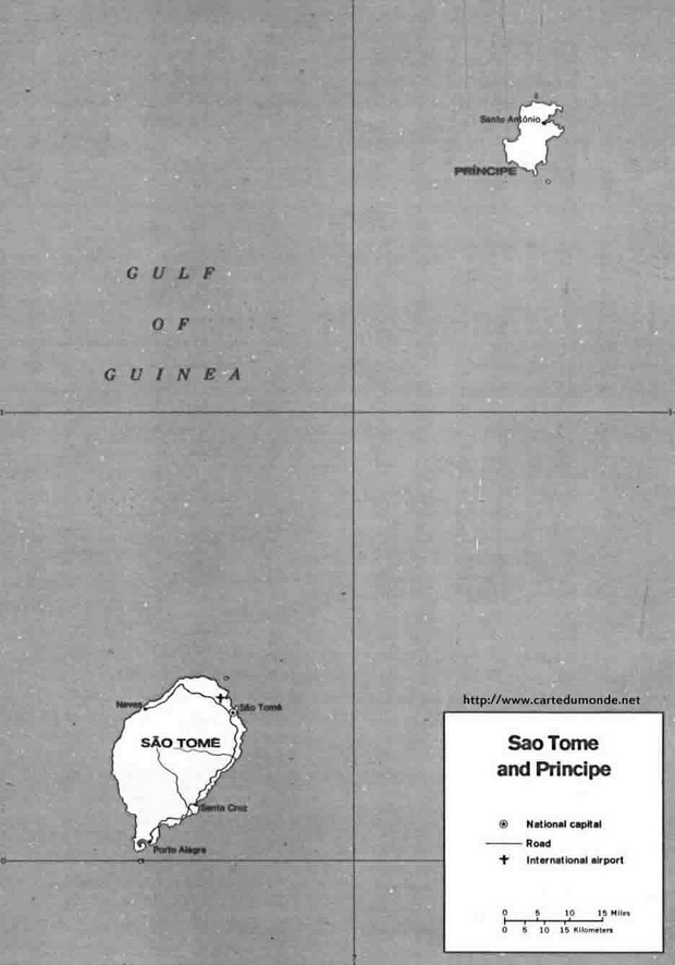Map Sao Tome and Principe