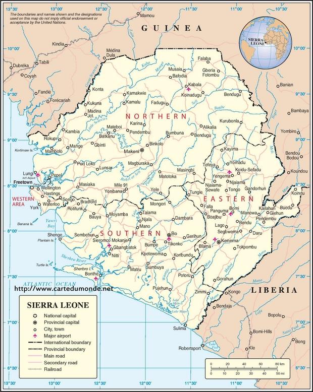 Mapa Sierra Leona