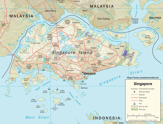 Kaart Singapore