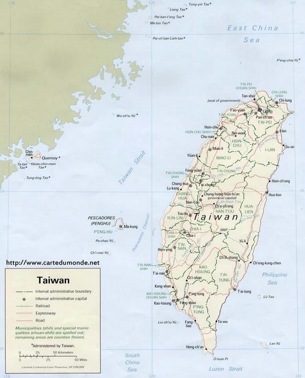 Karte Taiwan