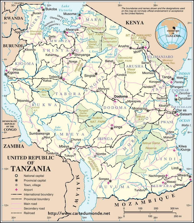 Map tanzania country map tanzania map tanzania gumiabroncs Image collections
