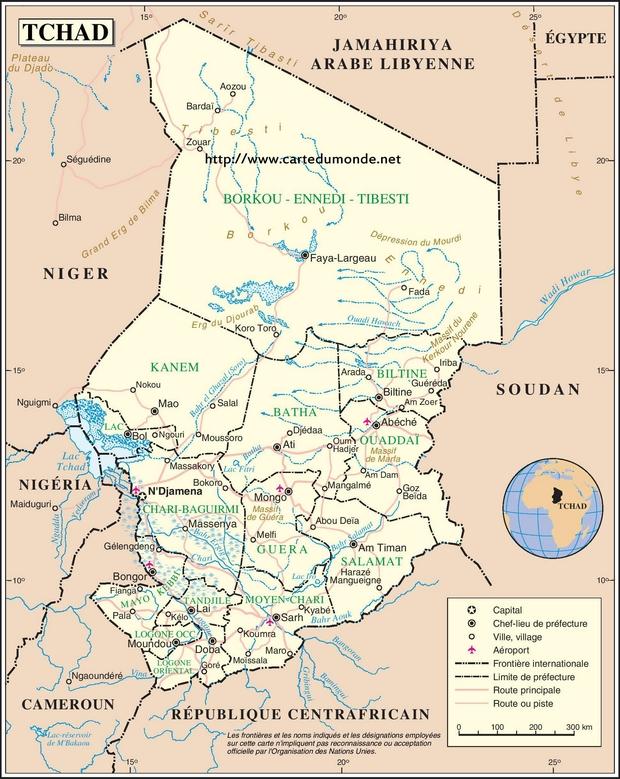 Map Chad