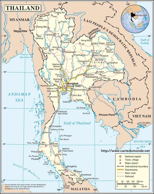 Map Thailand