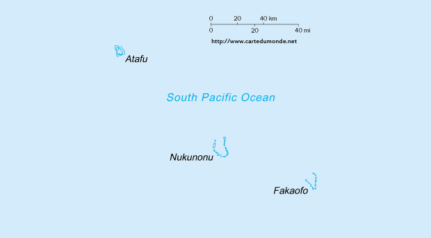 Kaart Tokelau