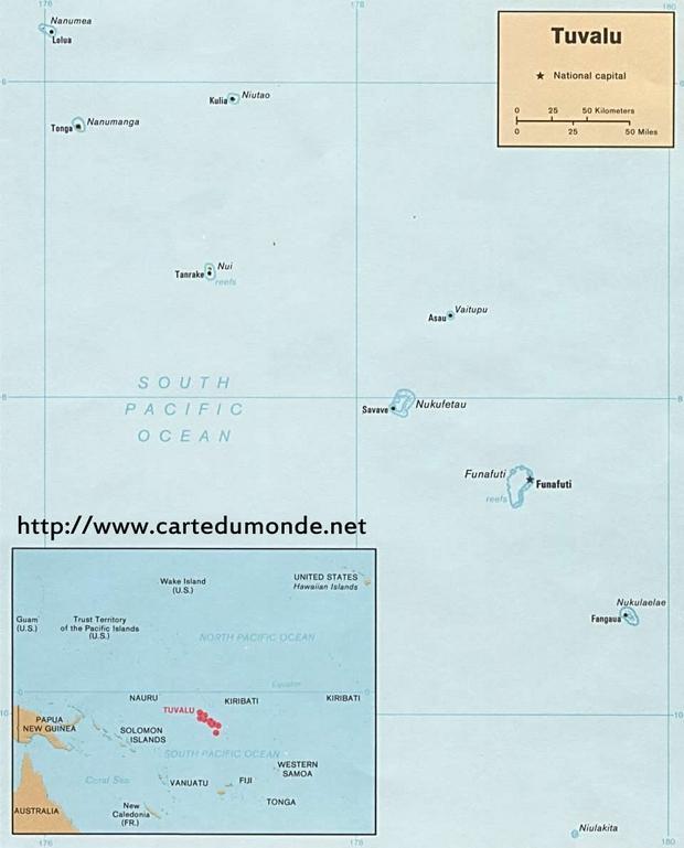 Karte Tuvalu