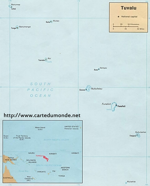 Map Tuvalu