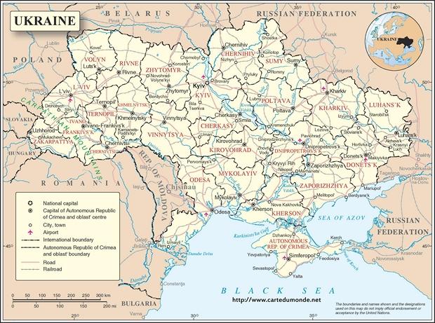 Carte Ukraine