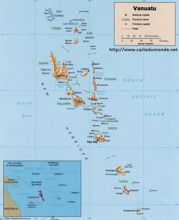 Map Vanuatu