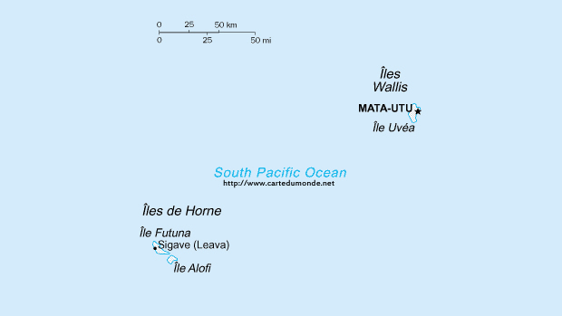 Map Wallis and Futuna