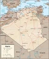 Mapa Algieria