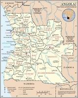 Karte Angola