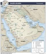 Kaart Saudi-Arabië