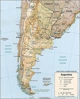 Karte Argentinien