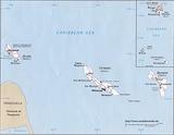 Karte Aruba
