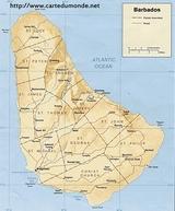Karte Barbados