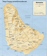 Mapa Barbados