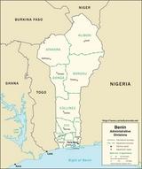 Kaart Benin