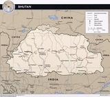 Kaart Bhutan