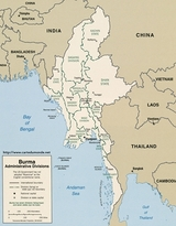 Karte Birma