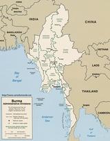 Mapa Birmania
