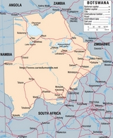 Kaart Botswana