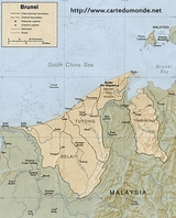 Map Brunei