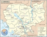 Mapa Kambodża
