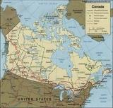 Mapa Kanada