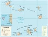 Mapa Wyspy Zielonego Przylądka