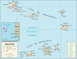 Kaart Kaapverdië