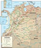 Mapa Kolumbia