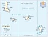 Kaart Comoren