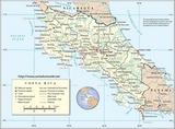 Karte Costa Rica