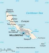 Karte Curacao