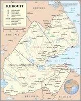 Mapa Dżibuti