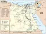 Mapa Egipt