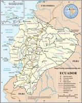Karte Ecuador