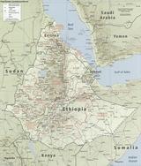 Mapa Etiopia