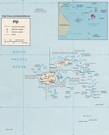 Mapa Fidżi