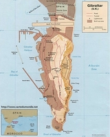 Carte Gibraltar