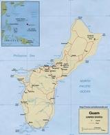 Kaart Guam