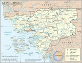 Kaart Guinee-Bissau