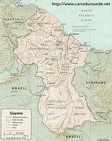 Carte Guyana