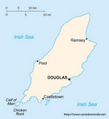 Mapa Isle of Man